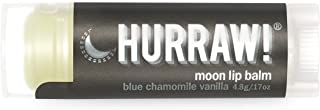 product image for Hurraw! Moon Night Treatment (Blue Chamomile, Vanilla) Lip Balm, 4.8g/.17oz: Organic, Certified Vegan, Cruelty and Gluten Free. Non-GMO, 100% Natural. Bee, Shea, Soy and Palm Free. Made in USA