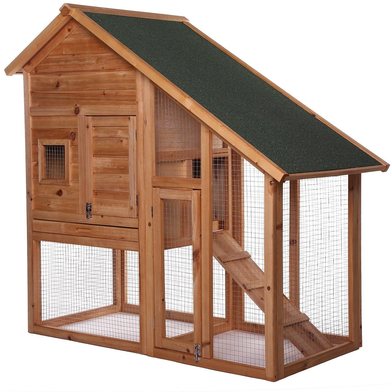 dibea RH10012, conejera, jaula para conejos, 140 x 65 x 119 cm con la parte inferior extraíble