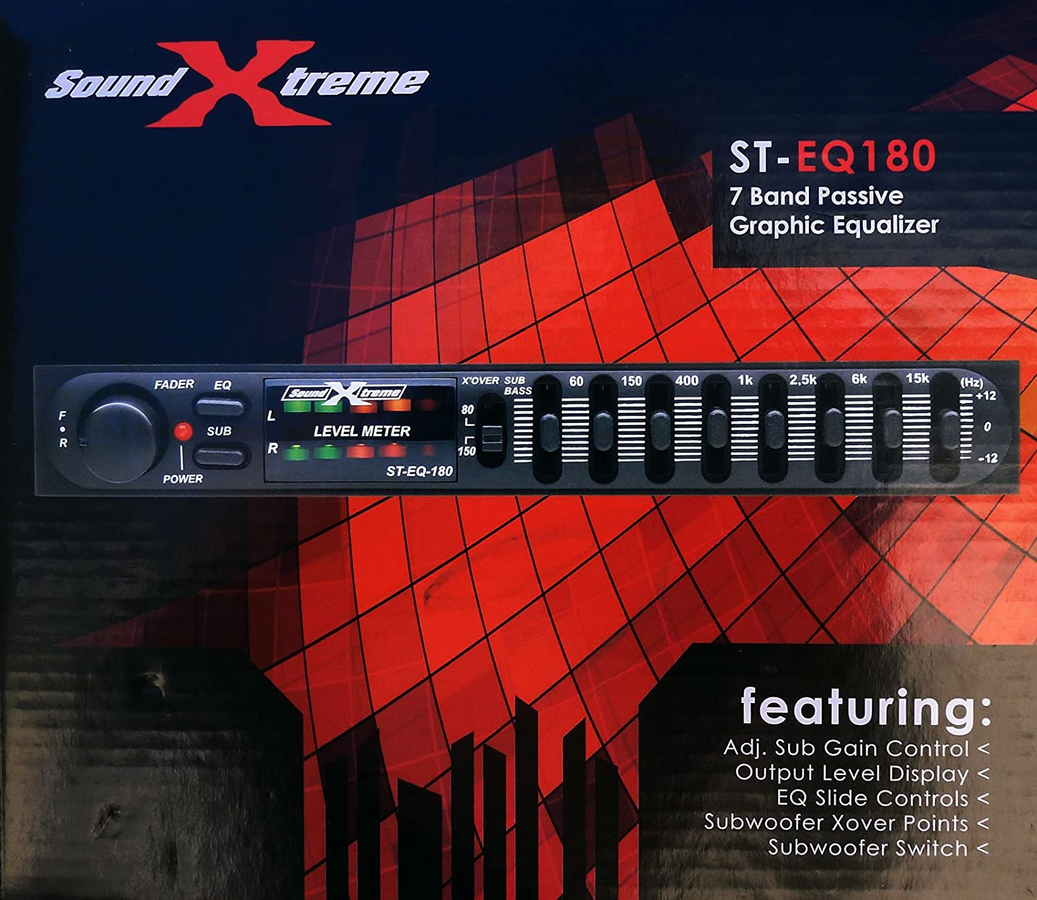 Soundxtreme Car Audio Passive Equalizer 7 Band 1 2 Din Graphic Equaliser Electronic Boy For You Pre Amp Eq Sub Crossover Electronics