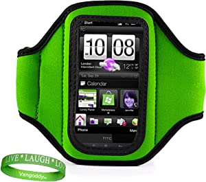 VG Elegant OEM Brand (GREEN) Armband with Sweat Resistant lining for Newest Apple iPod Touch with iOS 5 (Black & White 8GB, 32GB, 64GB) + Live Laugh Love VanGoddy Wrist Band!!!