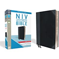 NIV, Thinline Bible, Large Print, Imitation Leather, Black/Gray, Red Letter Edition