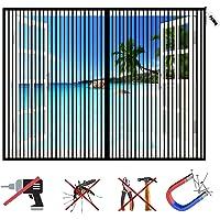 Magnetische vliegenraam, zonder boren, insectenbescherming, raam, wasbaar muggengaas voor balkondeur, terrasdeur…