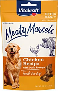 Vitakraft Meaty Morsels Chicken Recipe Treats for Dogs, Extra Meaty, Gently Oven-Roasted, Soft and Tasty