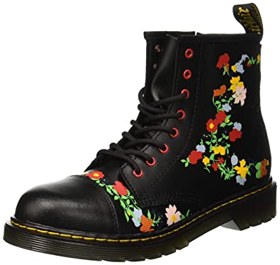 68467217a4234 Dr. Martens Kid's Collection Girl's 1460 Pooch Flower (Big Kid) Black Multi  T