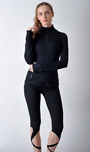 QUEENIEKE Veste Relax Mince en Coton Soupe avec Sensation Douce de Sports pour Femmes