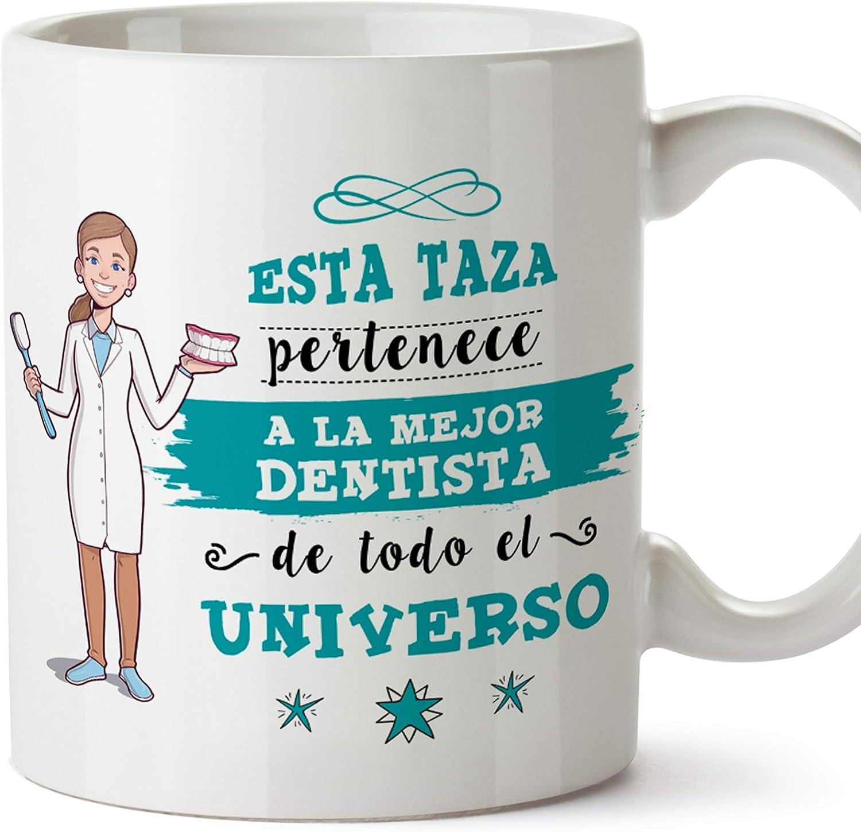 MUGFFINS Taza Dentista Mujer (Mejor del Universo) - Regalos Originales y Divertidos de Odontología