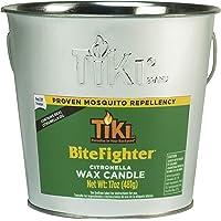 Tiki Brand 1418014 17 oz. BiteFighter Galvanized Citronella Wax Candle Metal Bucket Silver Torch, 5.00,
