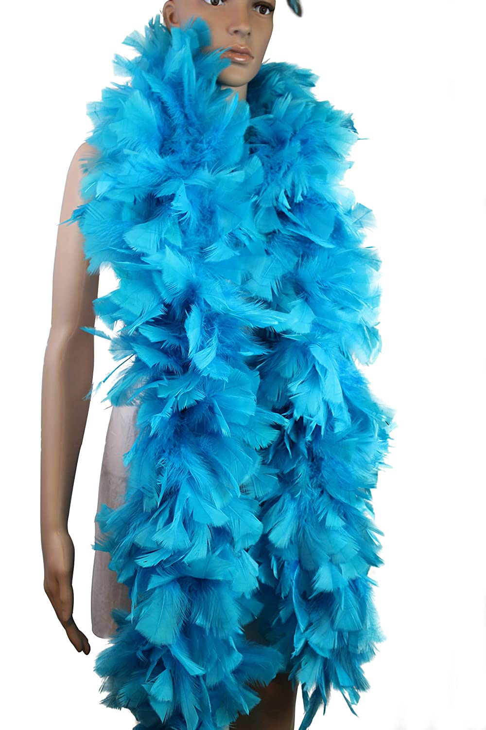 Flydream Feather 150 Gram Turkey Flat Large Feather Boa Good for Party, Dress Up, Halloween Costume, Decoration Black
