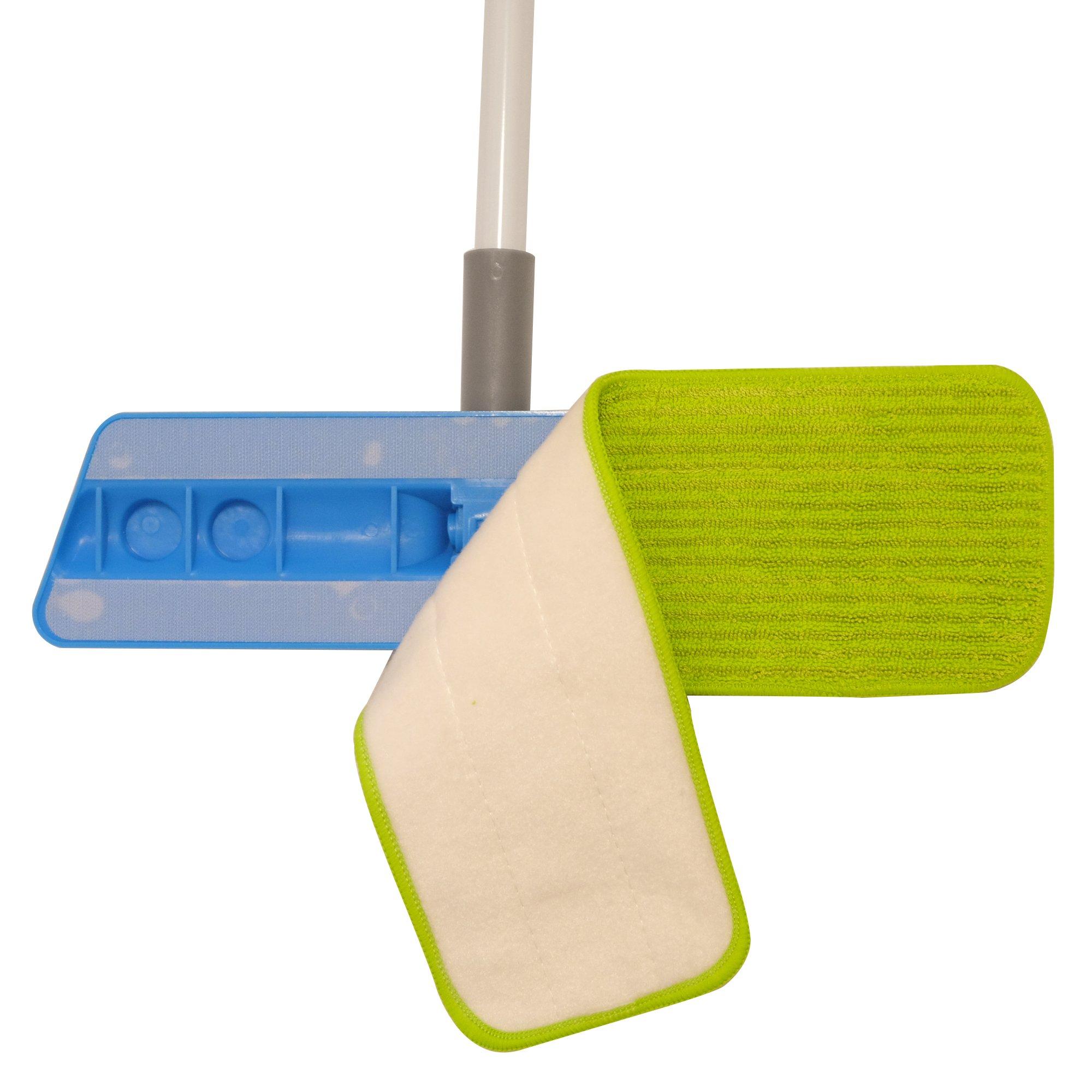 Microfiber Mop 18inch Velcro Wet & Dry Mop Refill for Hardwood Floors Set of 8 by Bear Family by Bear Family Microfiber (Image #5)