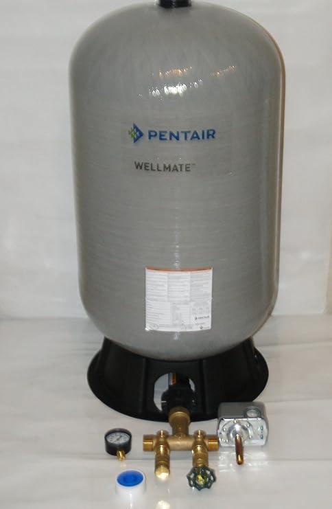 WELLMATE PENTAIR WM6 WM-6 20 gallon quick connect + Brass tank tee install  kit Free standing Water Well PRESSURE TANK