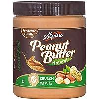 Alpino Natural Crunch Peanut Butter 1kg (Unsweetened)