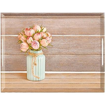 Emsa Bandeja Clásica, melamina, Vintage Rose, 50 x 37 cm