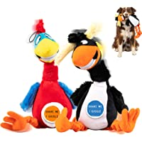 Pet Craft Supply Giggling Puffin & Parrot Multi Pack Interactive Dog Toys with Sound for Large Breed and Small Dogs Soft…