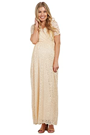 ac33ce028df PinkBlush Maternity Lace Overlay Wrap Maxi Dress at Amazon Women s Clothing  store