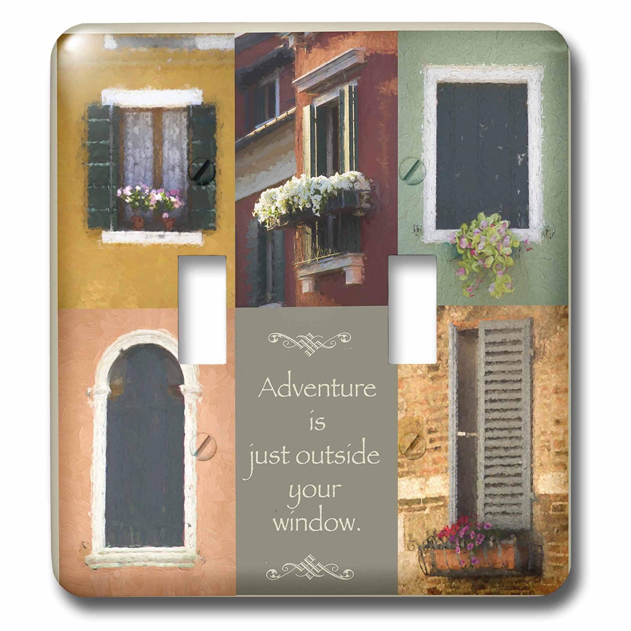 3dRose Susan Kjellsen Photography - Windows - Antique windows - Light Switch Covers - double toggle switch (lsp_280229_2)