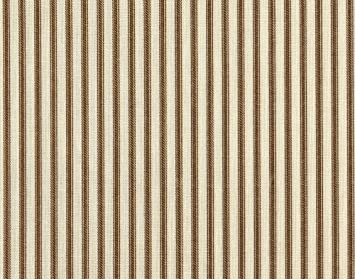 Amazon.com: French Country Ticking Stripe Suede Brown 75 x 84 inch ...