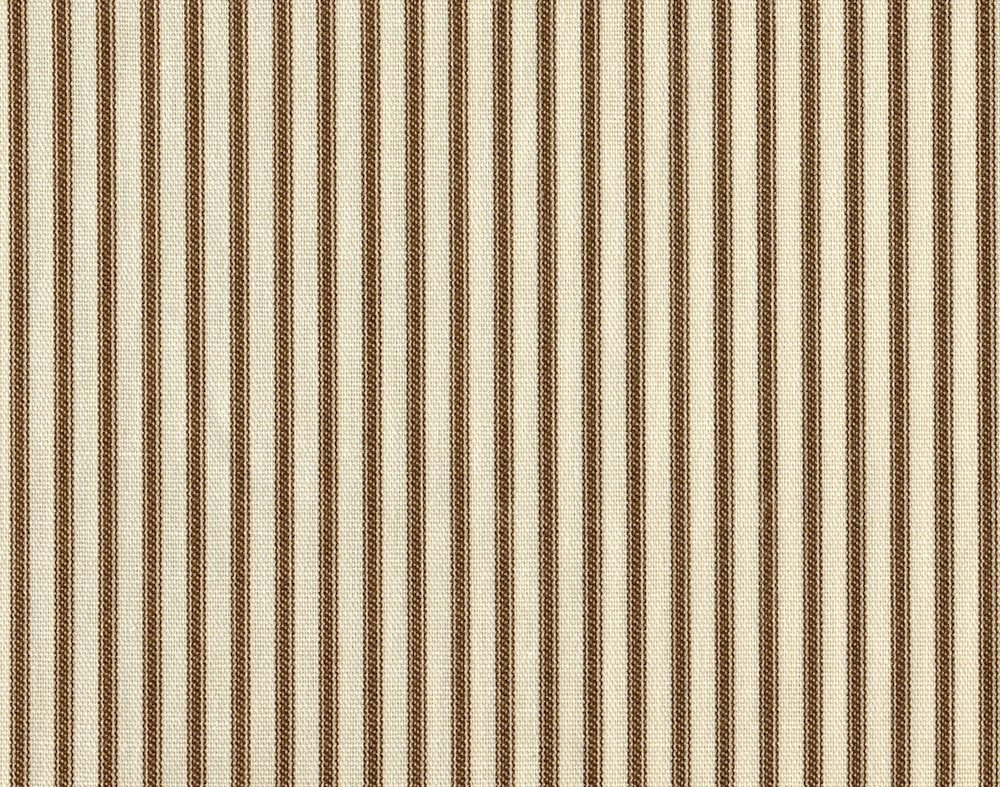 Tailored 15'' French Country Ticking Stripe Suede Brown Queen Bedskirt Cotton