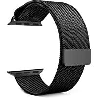 iwatch Milanese Band by House of Quirk Replacement Strap with Stronger Magnetic Closure 42mm