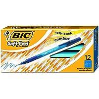BIC SGSM11-BLUE Soft Feel Ball Pen, Medium Point (1.0 mm), Blue, 12-Count