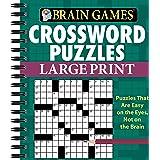 Brain Games - Crossword Puzzles - Large Print (Green)
