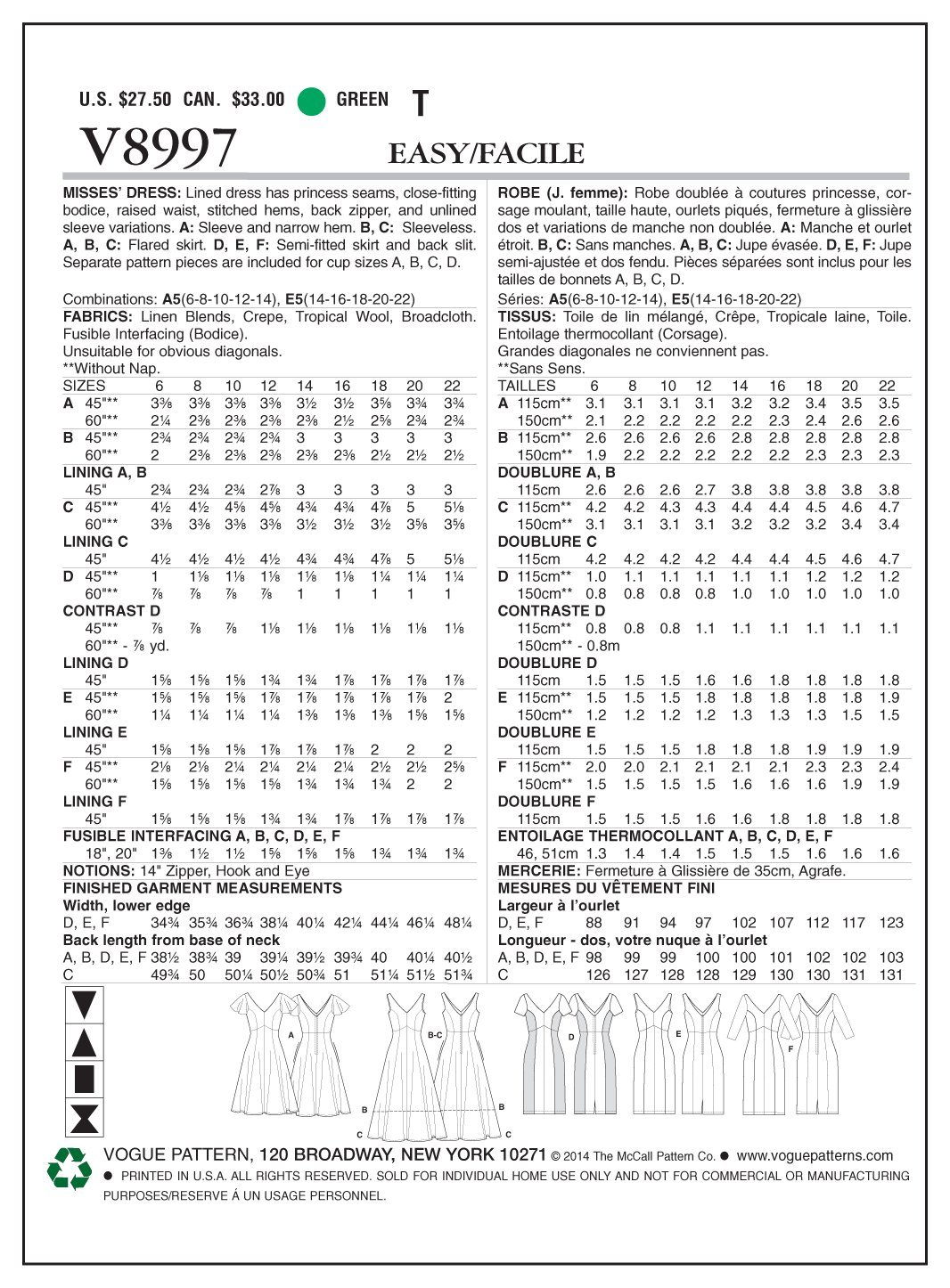 8ffd693d7 Patrones de costura para vestidos tallas 14-22 The McCall Pattern ...