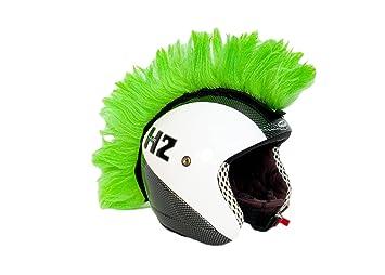Cresta verde adhesiva para casco. Accesorio
