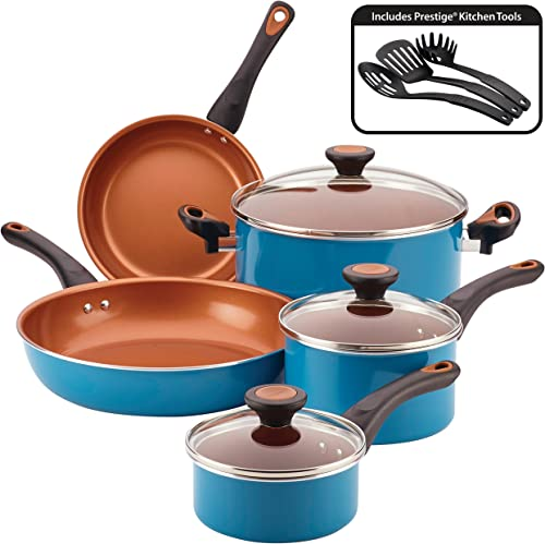 Farberware Glide Dishwasher Safe Nonstick Cookware Pots and Pans Set, 11 Piece