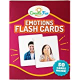 CreateFun Feelings and Emotions Flash Cards | 50 Emotion Development Educational Photo Cards | 7 Starter Learning Games…