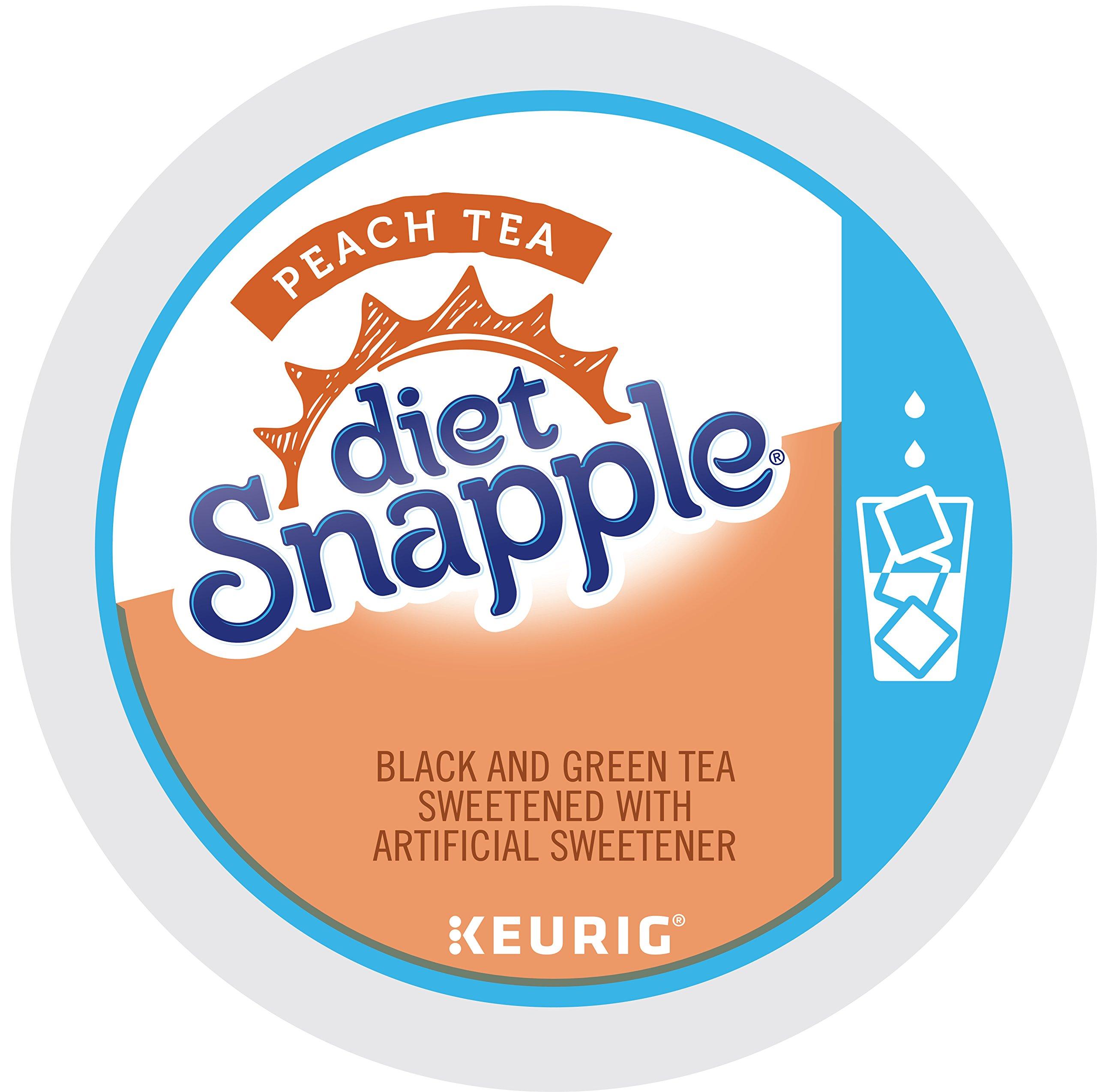 Keurig, Snapple, Diet Peach Iced Tea, K-Cup packs, 72 Count by Snapple