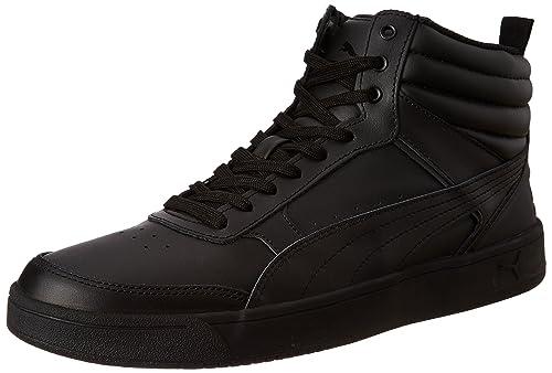 70d063eae37 Puma Men s Rebound Street V2 L Idp Black Sneakers-9 UK India (43 EU ...