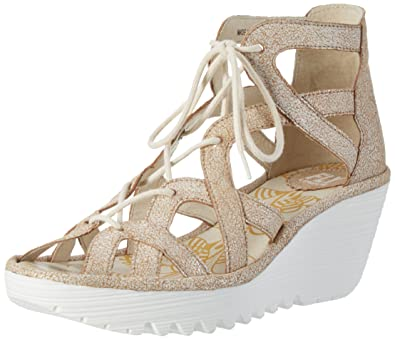 d9ae6ac3 Fly London Women's YELI719FLY Heels Sandals, Off White (Pearl 009), 3 UK