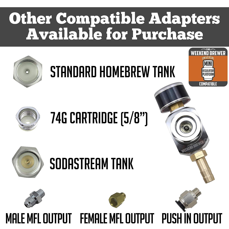 Micro CO2 Mini Regulator Keg Charger for Paintball Tanks 0-60 PSI