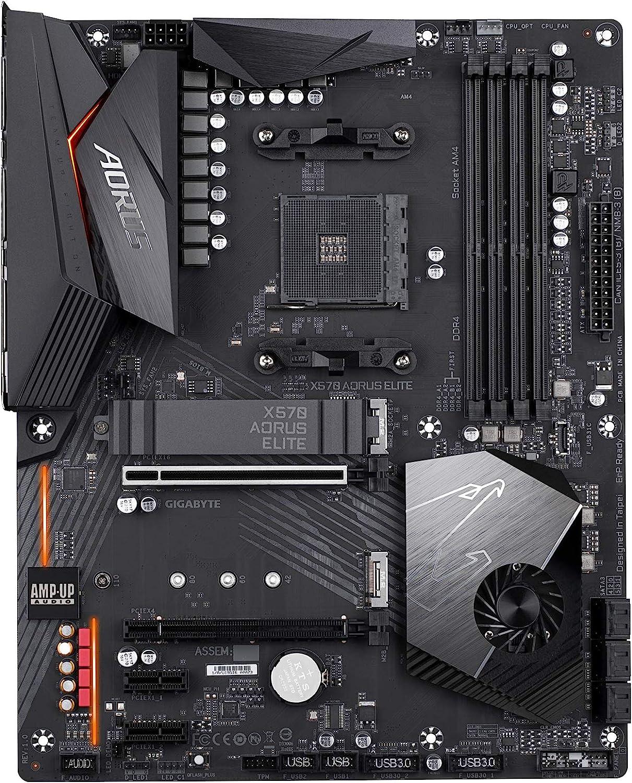 Gigabyte X570 AORUS Elite (AMD Ryzen 3000/X570/ATX/PCIe4.0/DDR4/USB3.1/Realtek ALC1200/USB frontale Type-C/RGB Fusion 2.0/M.2 Thermal Guard/Scheda madre di gioco)