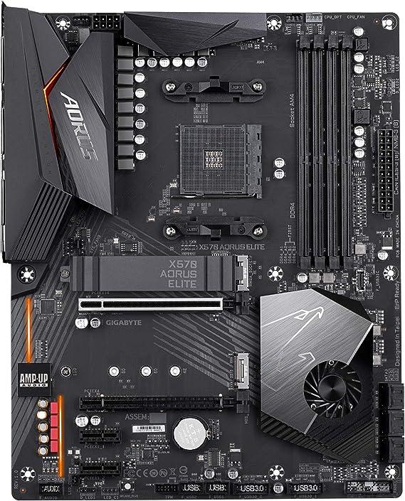 GIGABYTE X570 AORUS Elite (AMD Ryzen 3000/X570/ATX/PCIe4.0/DDR4/USB3.1/Realtek ALC1200/Front USB Type-C/RGB Fusion 2.0/M.2 Thermal Guard/Gaming ...