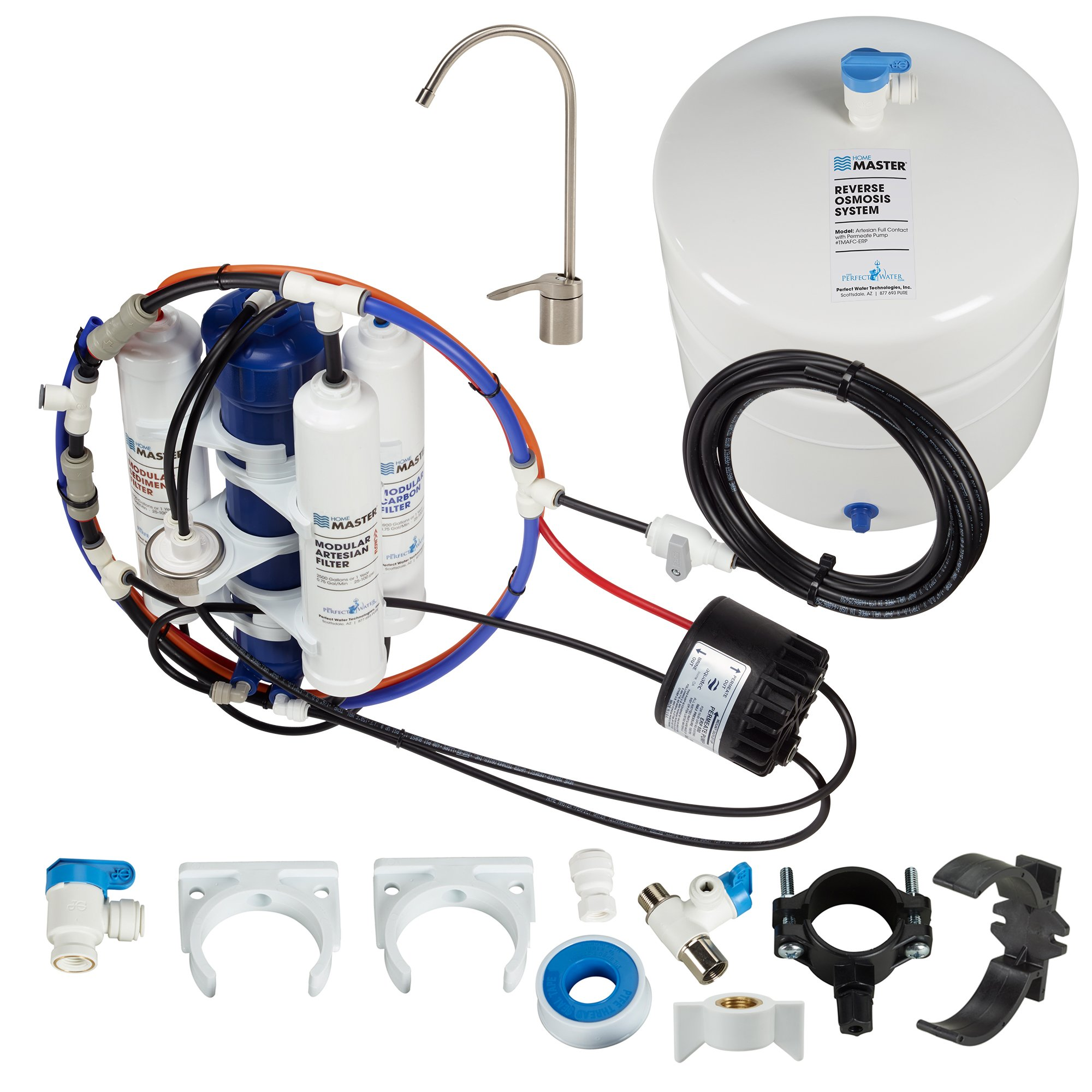 Home Master TMAFC-ERP-L Artesian Full Contact with Permeate Pump Loaded Undersink Reverse Osmosis Water Filter System by Home Master (Image #3)