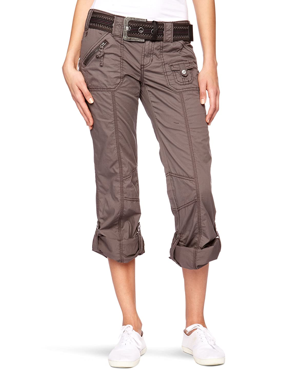 92acd26cb033 edc by ESPRIT 993CC1B902 Relaxed Women's Trousers Grey (Fairy Grey)  W32INXL30IN(Size 6): Amazon.co.uk: Clothing