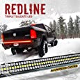 """OPT7 60"""" Redline Triple LED Tailgate Light Bar w/Sequential RED Turn Signal - 1,200 LED Solid Beam - Weatherproof No Drill Install - Full Function Reverse Brake Running 2yr Warranty"""