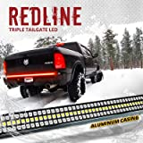 "OPT7 60"" Redline Triple LED Tailgate Light Bar w/Sequential RED Turn Signal - 1,200 LED Solid Beam - Weatherproof No…"