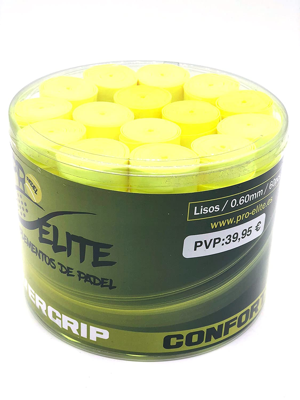 overgrips Pro Elite Confort Lisos. Bote de 60 unds. (Amarillo ...