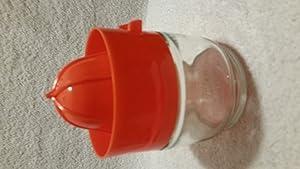 Vintage Gemco Plastic Orange Lid with Glass Jar Juicer