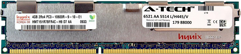 A-Tech Hynix 4GB Module PC3-10600 1.5V for Dell Precision Workstation Snpp9rn2c/8g A2626072 A2626093 A2862069 A2862074 A3721482 T5600 T7500 T7600 T5500 T5600 T7500 T7600 T5500 Memory RAM