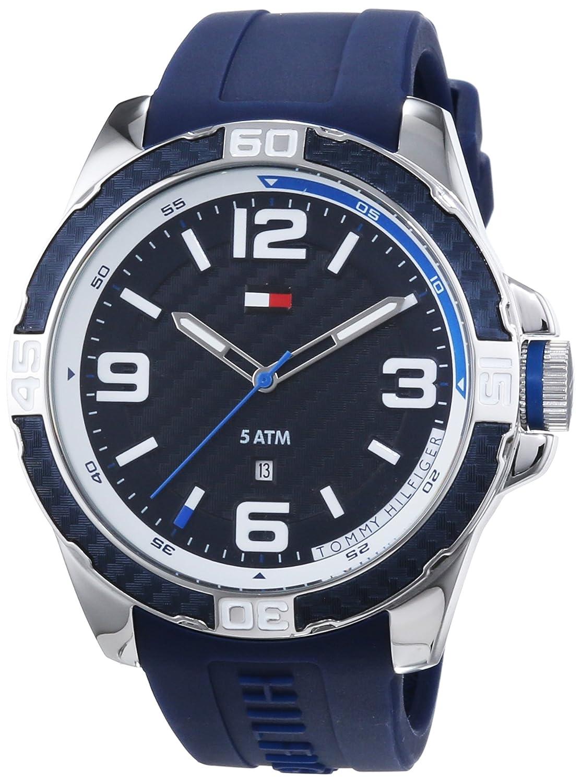 Tommy Hilfiger Watches BRODIE , Reloj Analógico de Cuarzo para Hombre,  correa de Silicona color Azul Amazon.es Relojes