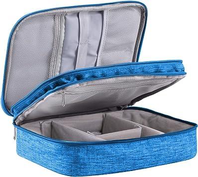 LIVACASA Bolsa de Viaje Cable Organizador Estuche para Eléctricas Accesesorios Impermeable Portatíl para Cables Cargador Bolsillo Azul Celeste: Amazon.es: Equipaje