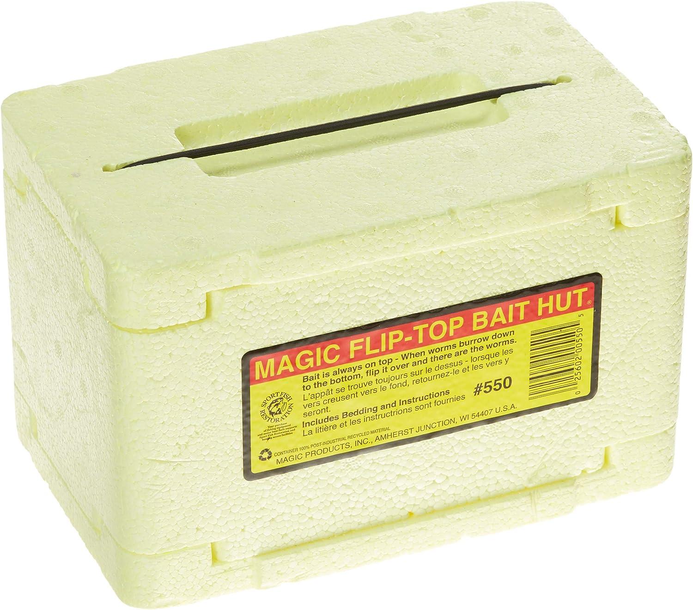 Magic Products Magic Flip Top Bait Box, Brown