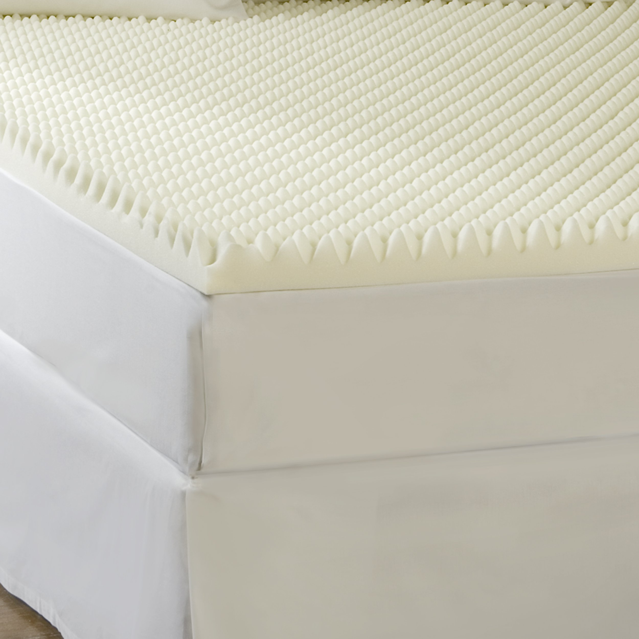 Sleep Comfort 2-Inch High Loft Eco Memory Foam Toppers, Twin