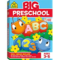 School Zone - Big Preschool Workbook - Ages 3 to 5, Colors, Shapes, Numbers 1-10, Early Math, Alphabet, Pre-Writing…