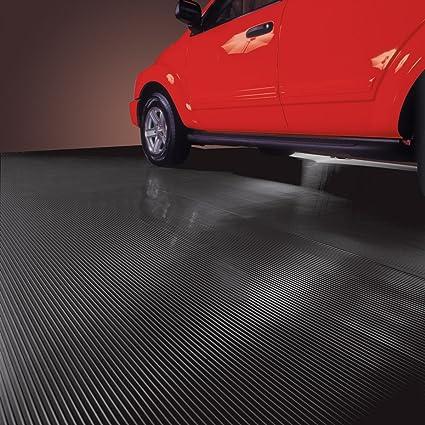 G Floor Mats >> Blt G Floor Ribbed Garage Floor Mat 55 Mil 7 5 X 17 Midnight Black