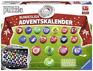 Ravensburger 3D-Puzzle 11696 - Bundesliga Adventskalender: Amazon.de ...