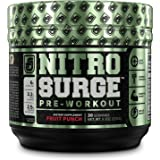 NITROSURGE Pre Workout Supplement - Endless Energy, More Strength, Sharp Focus, Intense Pumps - Nitric Oxide Booster & Preworkout Energy Powder - 30 Serving, Fruit Punch