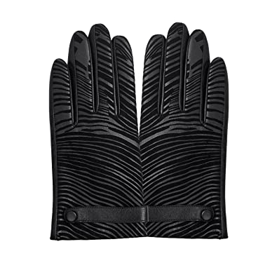 47add7bf97bad FIORETTO Touchscreen Leather Gloves Womens Thermal Winter Wool/Cashmere  Lined, Fashion Camouflage Stripes Warm